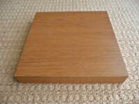 25 X 25 X 3.7 cm Beech Effect Floating Square Shelf Shelving Bedroom Living Dining Room etc