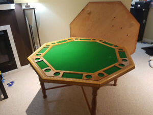 Wooden poker table with cover!