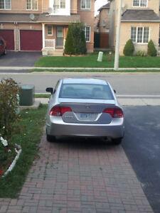 Silver Honda Civic 2008 Sedan, Manual, Rims, Speaker, Spoiler,