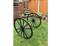 Large cast iron wheels