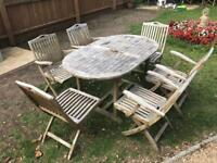 Superb Solid Teak Garden Dining Suite