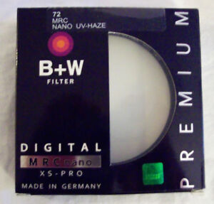 72mm B+W UV Filter XS-Pro Clear UV Haze Nikon Canon sony