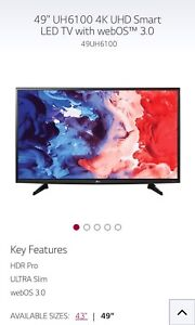 """LG 49"""" Ultra HD Smart LED"""