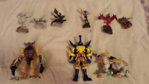 Digimon and pokemon figures (collector card figures)