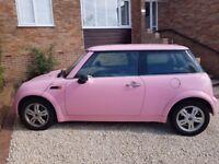 Glittery Baby Pink Mini One, 1.6 Automatic,1 year MOT,