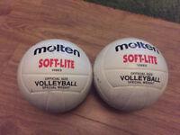 Molten volleyball balls x2