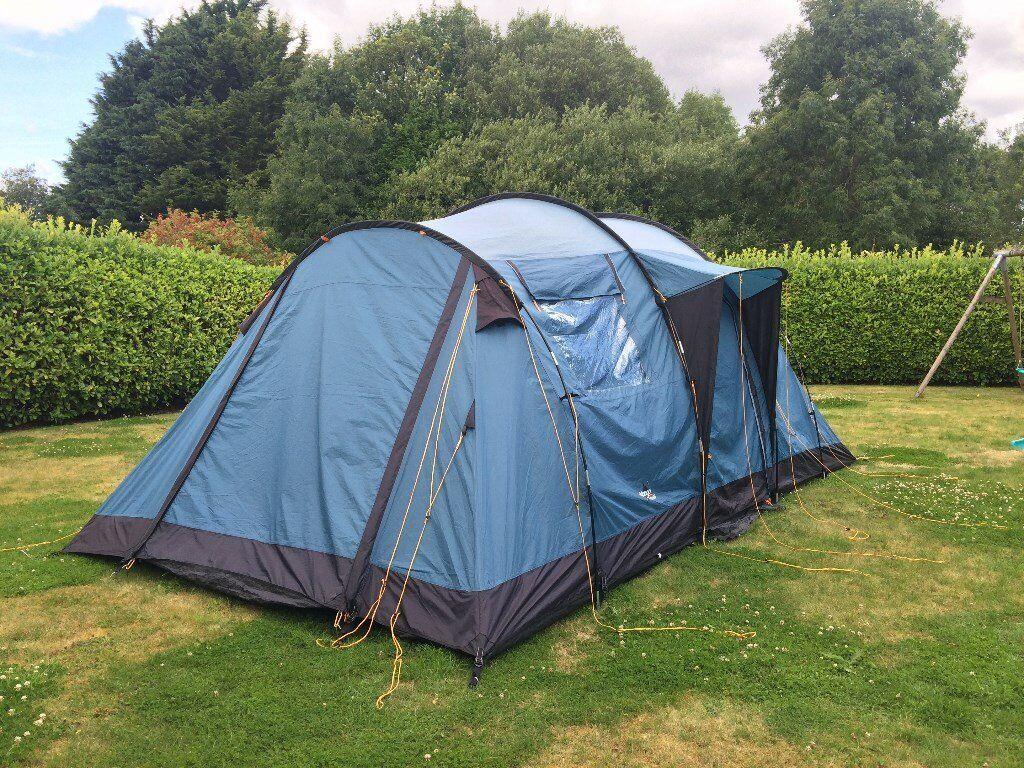 TENT Bundle - Vango Tigris 600 - 6 man family tent footprint and carpet - & TENT Bundle - Vango Tigris 600 - 6 man family tent footprint and ...