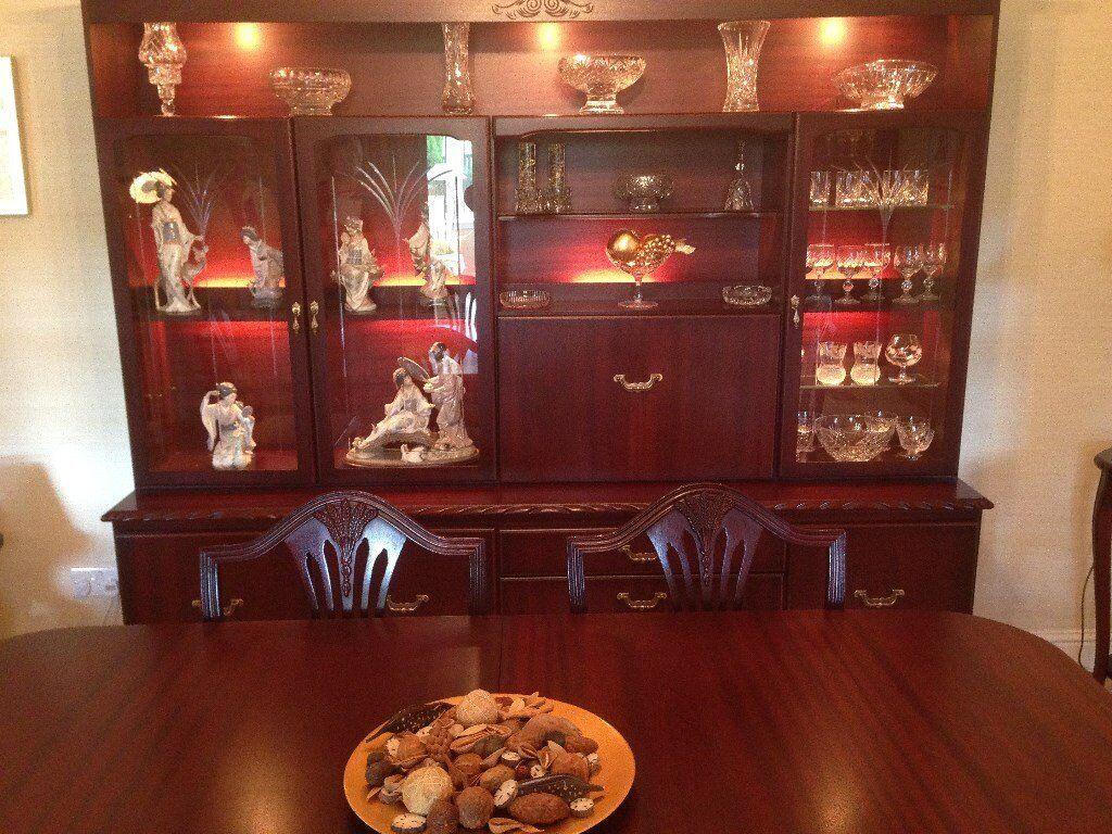 John Coyle Rope Edge Rosewood Dining Room Furniture Set