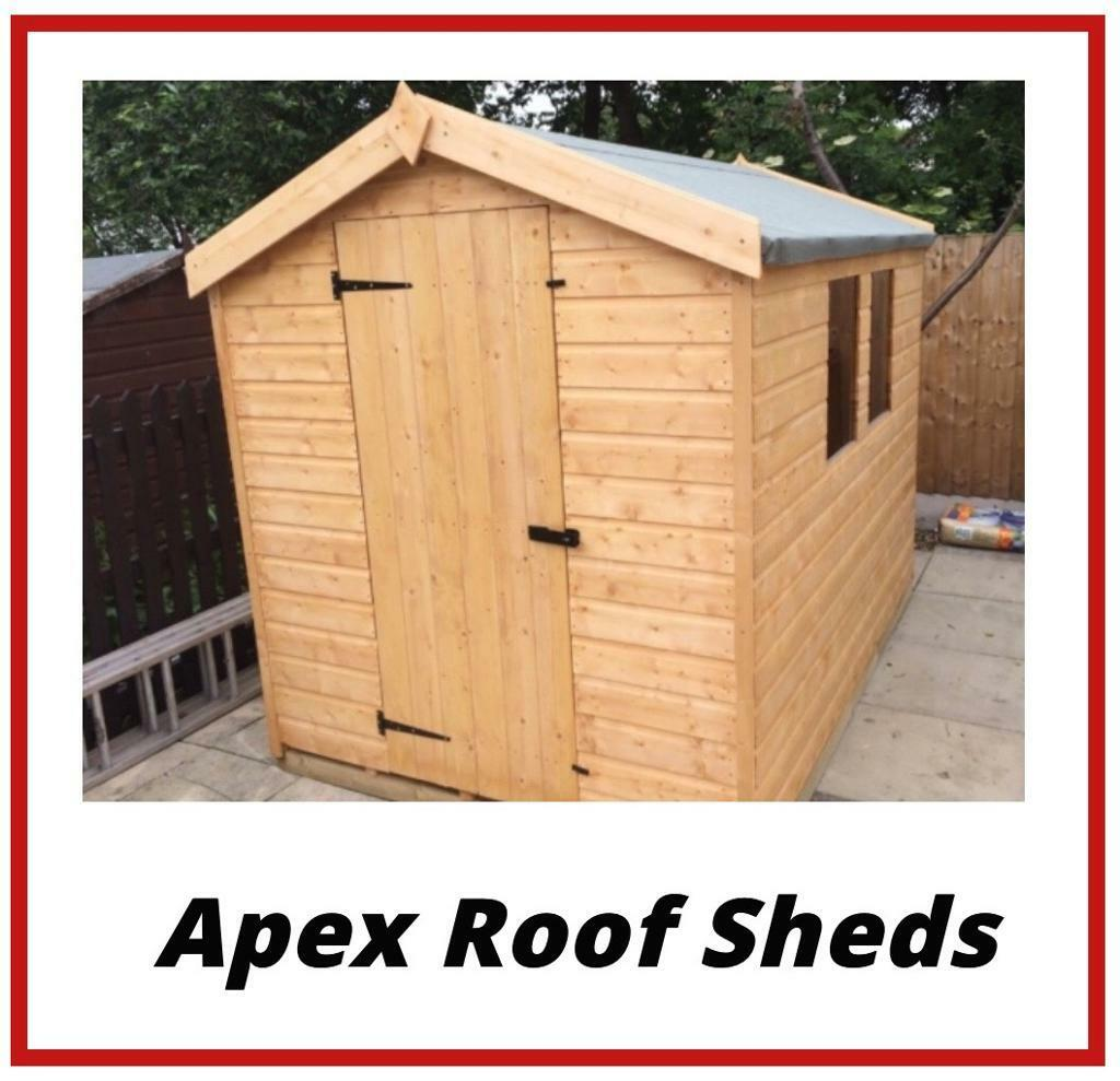 HIGH Quality 5x4 Apex Roof Garden Sheds (ALL SIZES) LOW Prices (Free  Delivery