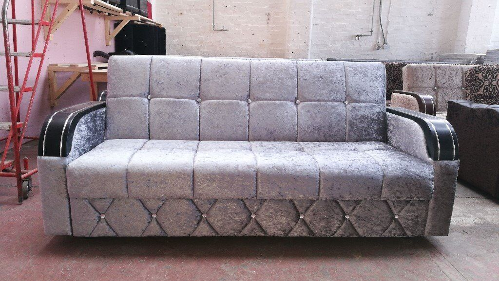 Turkish Style Sofa Bed In Crush Velvet Zab Online Furniture