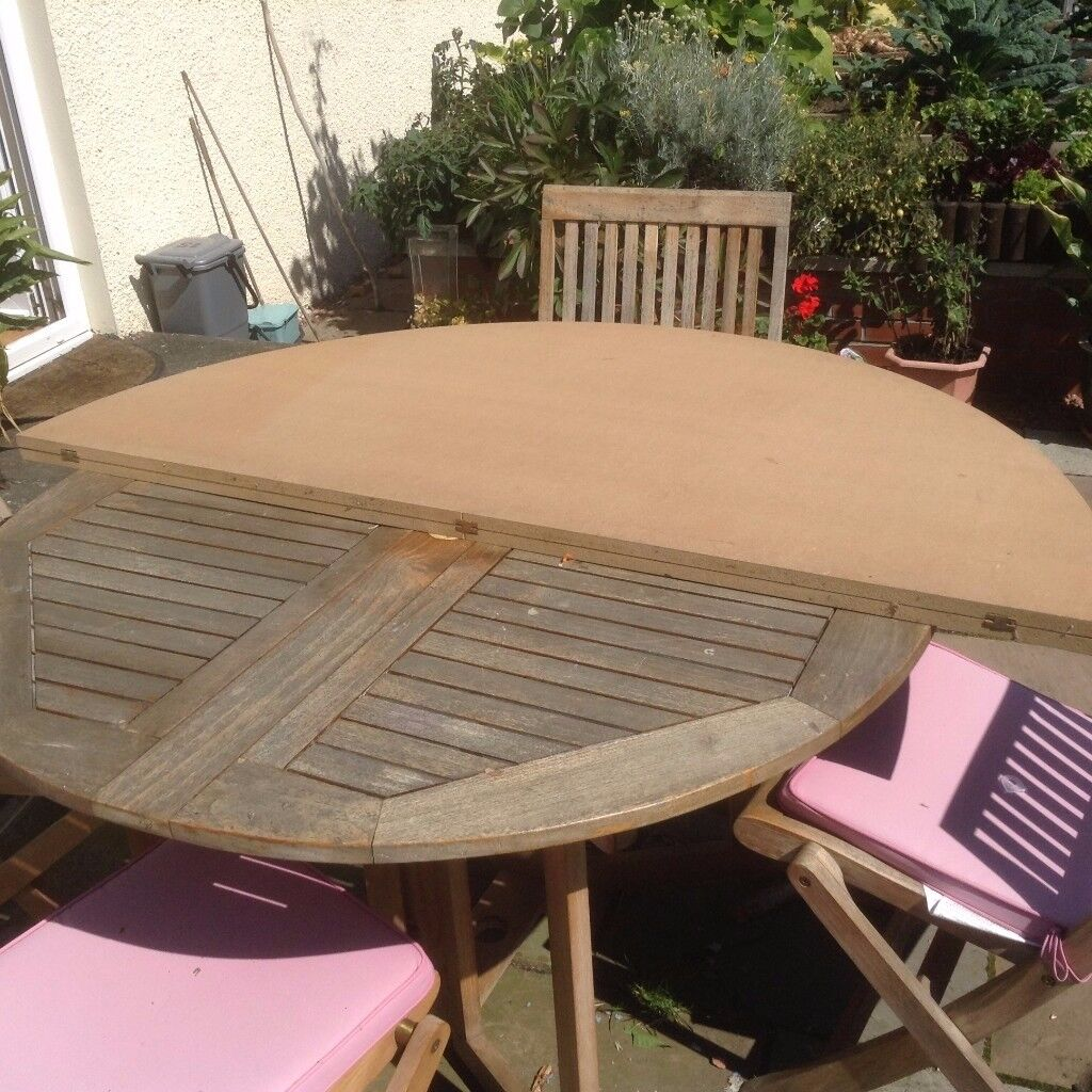 Round Table Top Extender. Folds For Easy Storeage
