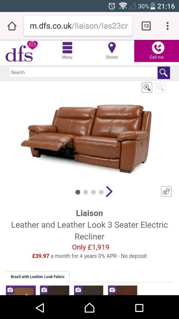 Dfs leather 2 seater electric reclining dfs liaison dark tan  sc 1 st  Gumtree & 1 week old. Dfs leather 2 seater electric reclining dfs liaison ... islam-shia.org