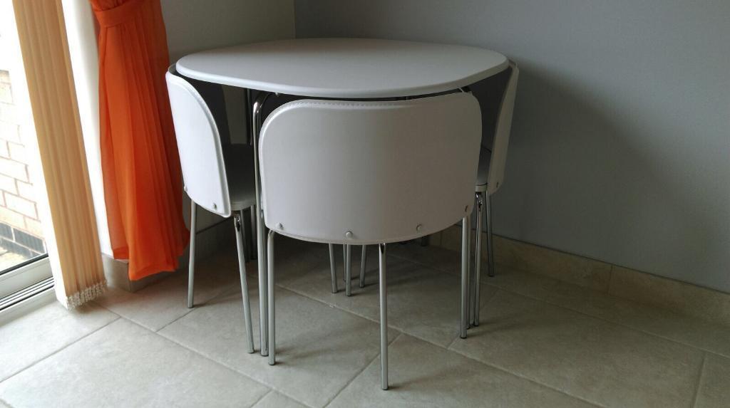Hygena Amparo Space Saving Dining Table U0026 4 Chairs