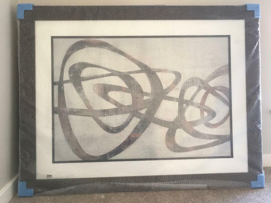 Beau Large Abstract Wall Art Framed Picture (DFS) Purchased For 295