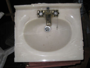 USED MARBLE VANITY SINK For An R V