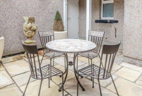 John Lewis Petra 4 Seater Mosaic Table Set   Garden Furniture / Bistro Set