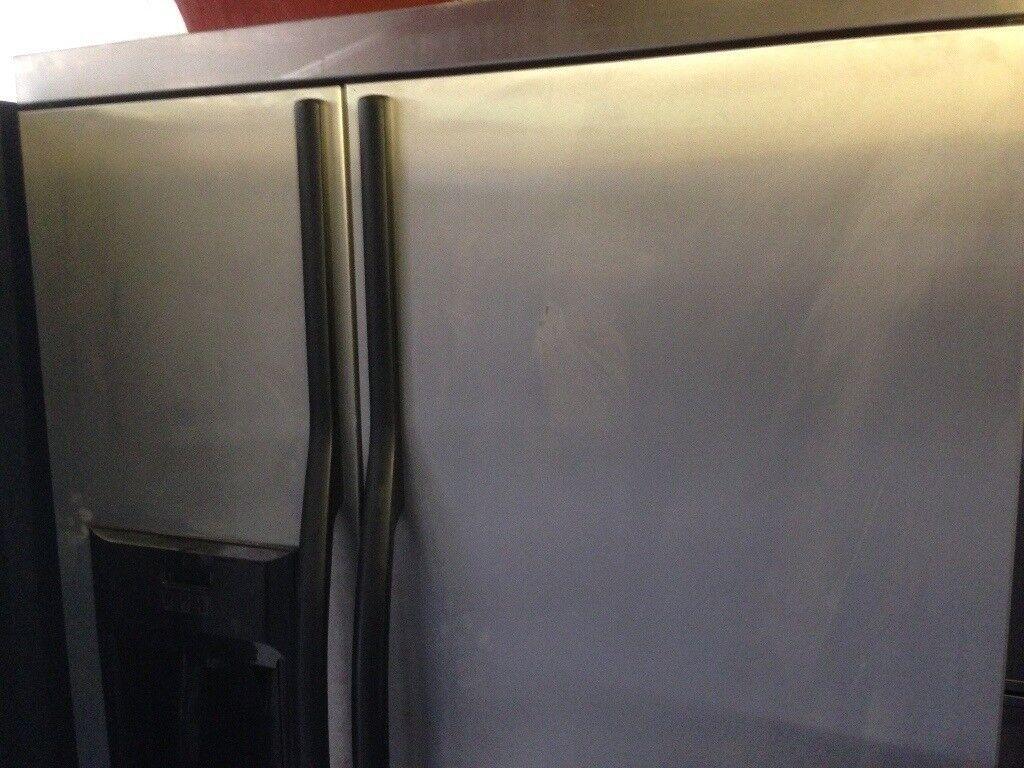 Cheap American Fridge Part - 37: Silver American Fridge Freezer....Cheap Free Delivery