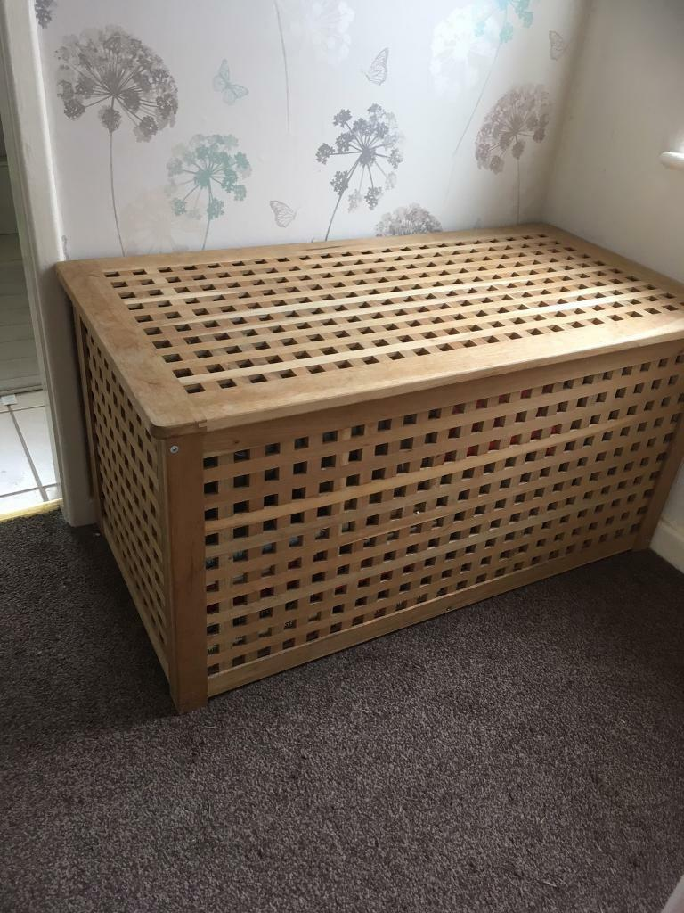 IKEA Hol Large Wooden Storage Box/ Toy Box/ Seat