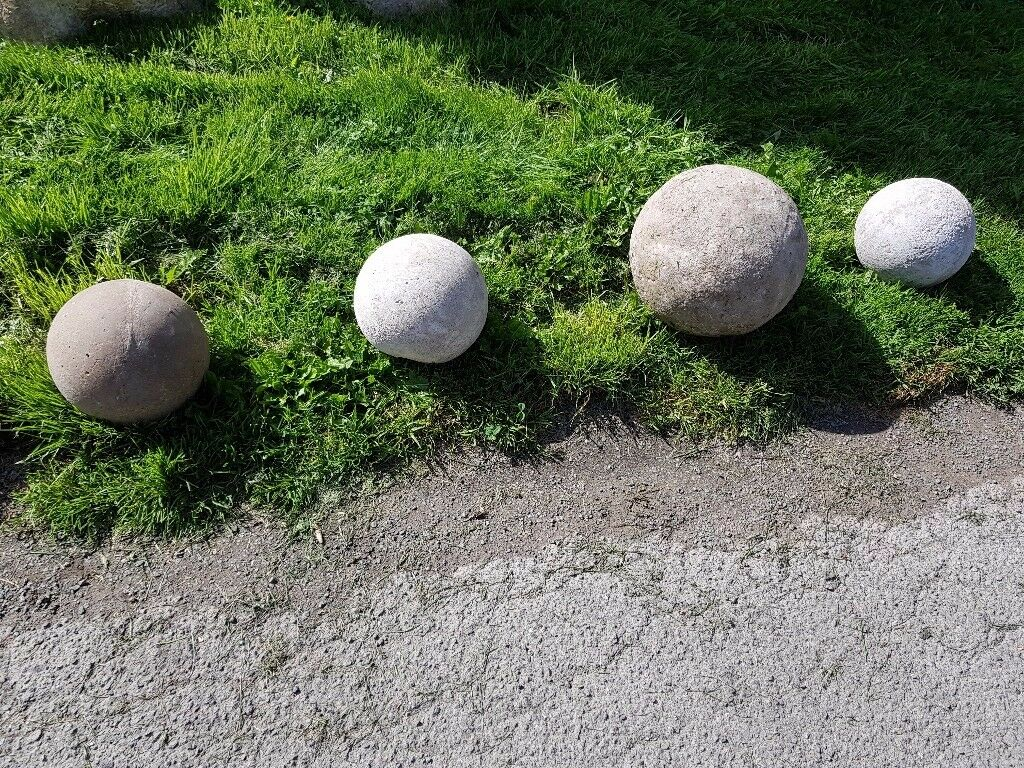 Large Concrete Balls. Keep The Cars Off Your Grass Or Just As Ornaments In  Your