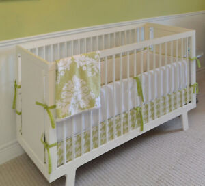 oeuf sparrow white baby crib with toddler bed conversion kit