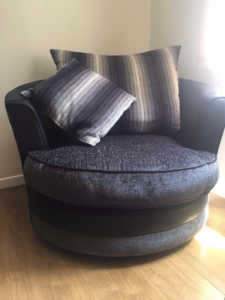 Farrow Swivel Chair U0026 Half Moon Footstool