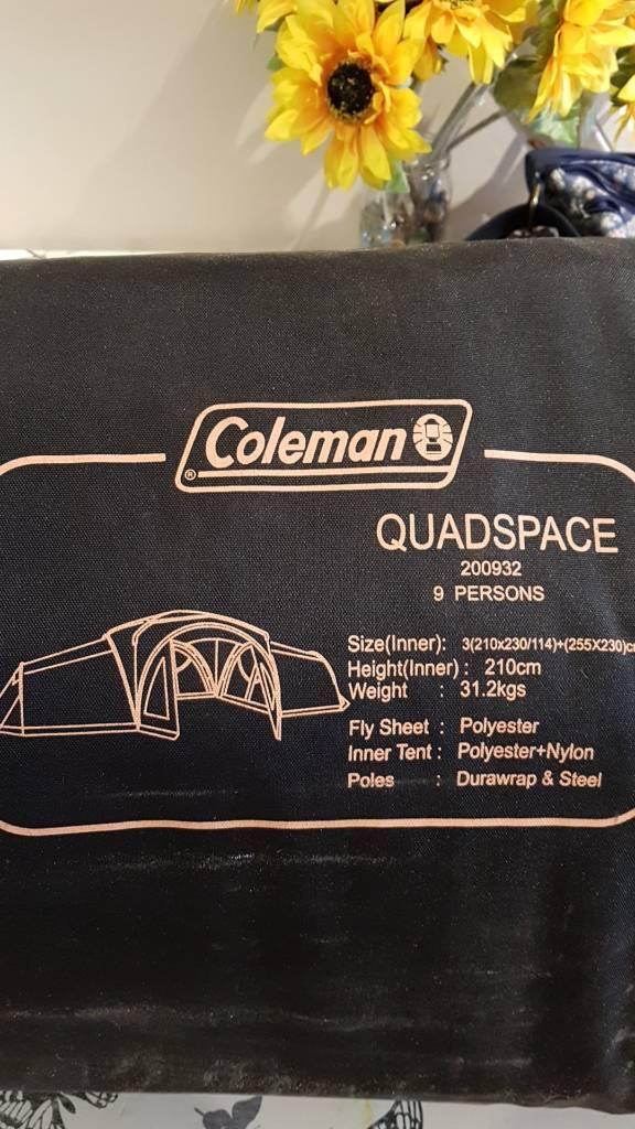 Coleman quad space 9 person man tent & Coleman quad space 9 person man tent | in Salisbury Wiltshire ...
