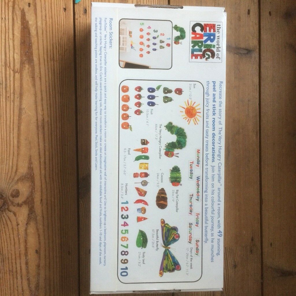 The Very Hungry Caterpillar Wall Stickers. Image 1 Of 3 Part 75