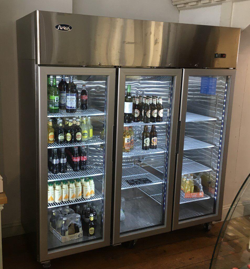atosa ycf 3 door glass display fridge 1 year old - Atosa
