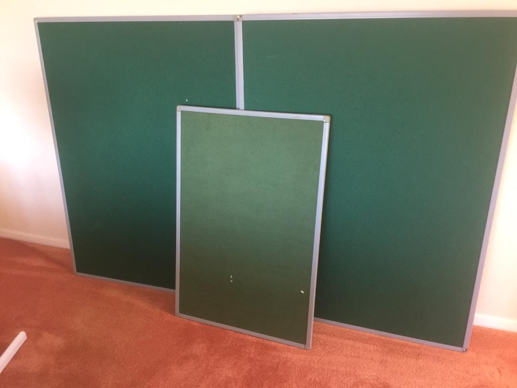 3 GREEN PIN BOARDS OFFICE CONFERENCE MEETING ROOM DISPLAY BOARDS 3 AVAILABLE