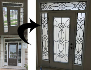 Beau Wrought Iron Door Inserts And Stained Glass Door Inserts