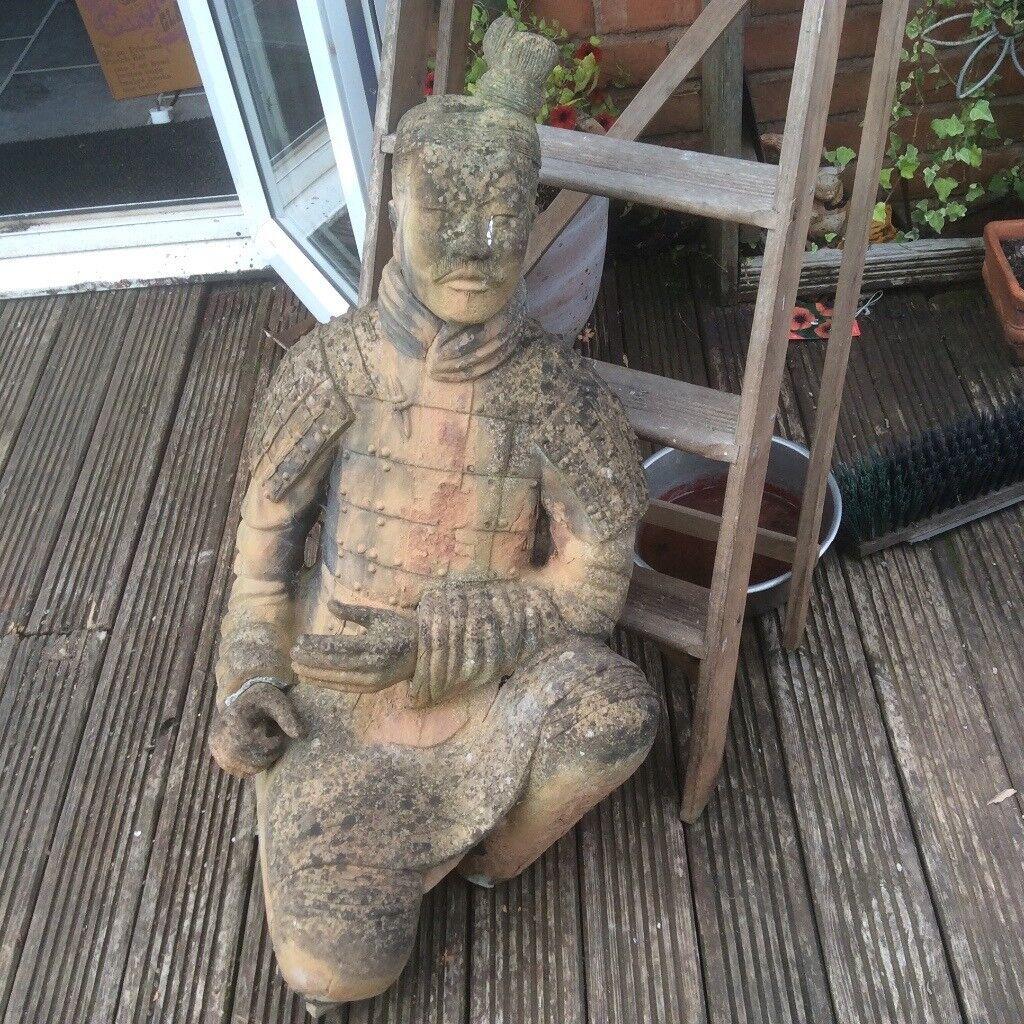 Ordinaire Large Terracotta Chinese Warrior Garden Statue