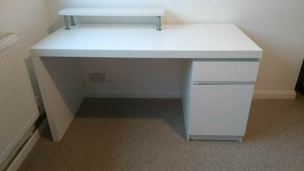 Marvelous IKEA Malm Desk And Matching Stand