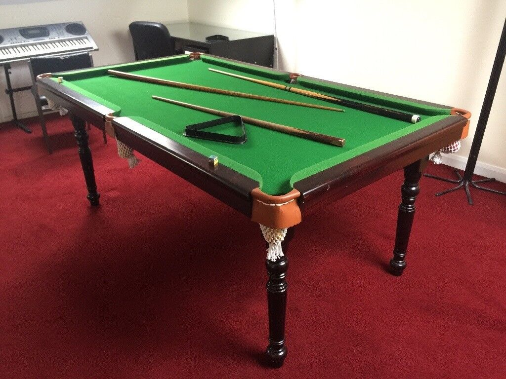 Superieur Pot Black 6u0027 Foot By 4u0027 Foot Snooker Pool Table With Balls Cues Triangles