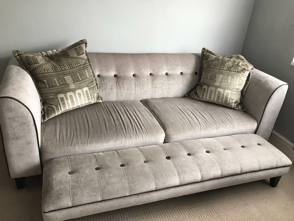 dfs vista range sofa footstool  u0026 accent chair in light grey soft velvet  dfs vista range sofa footstool  u0026 accent chair in light grey soft      rh   gumtree