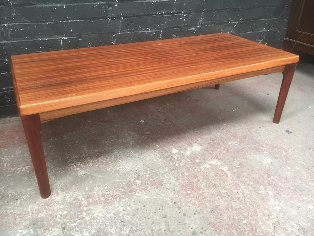 Mid Century Danish Long Rosewood Coffee Table By Vejle Stole Mobelfabrik