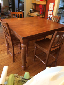 Expandable Pub Height Table With 8 Chairs
