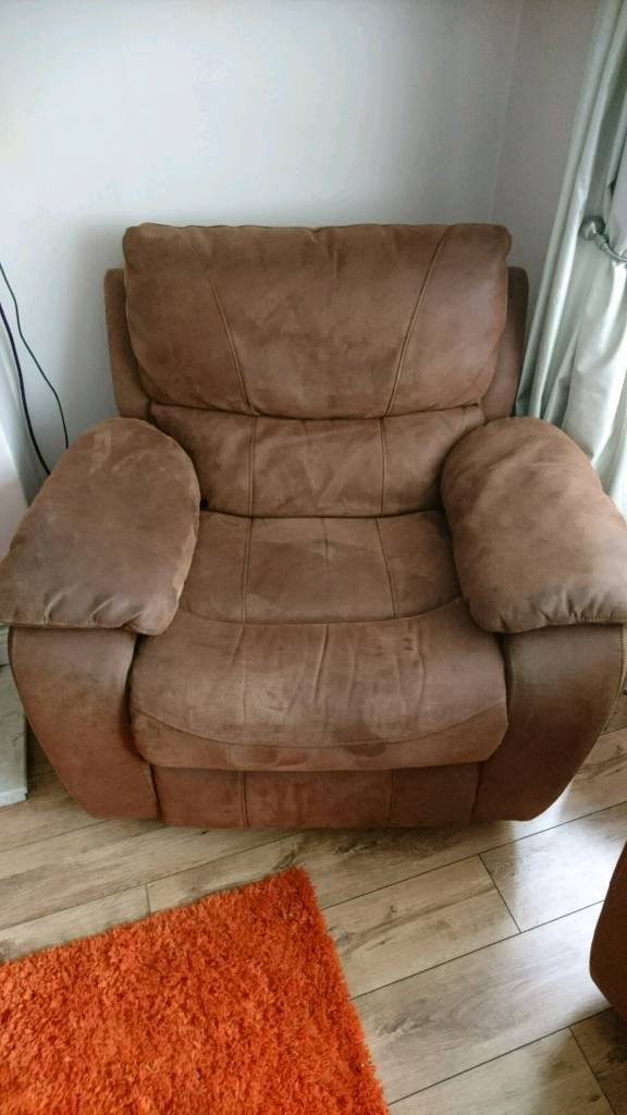 Ordinaire Harveyu0027s Faux Suede Recliner Chair. Reduced For Quick Sale! Bargain!