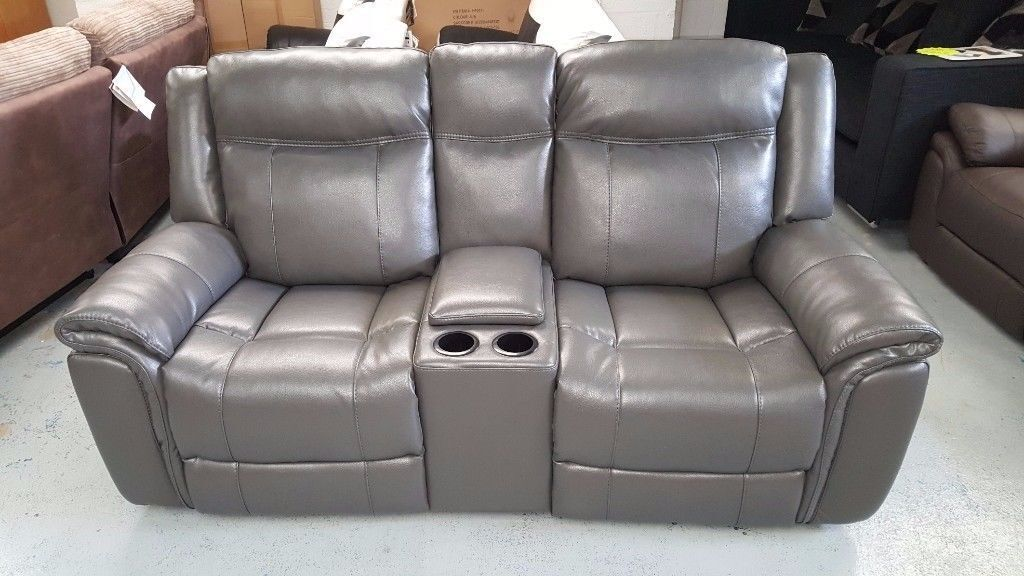ScS Endurance Baxter 2 Seater Electric Recliner Sofa with Console u0026 USB Ports **CAN : two seater electric recliner sofa - islam-shia.org