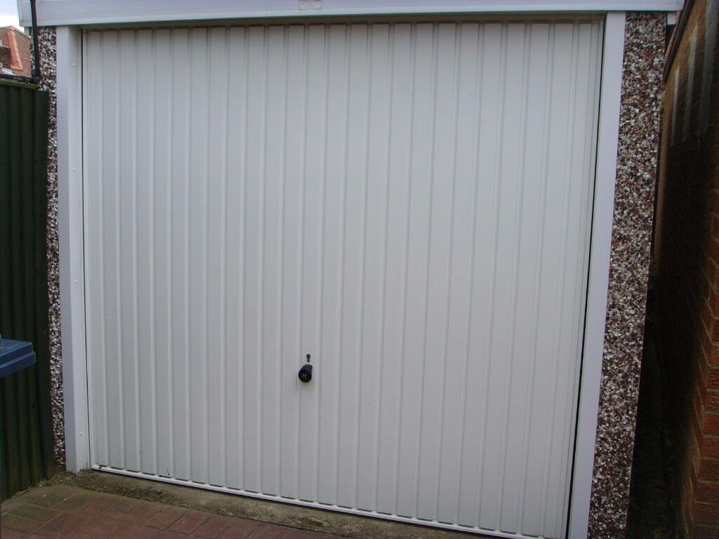 Garage   Hanson Concrete Section 18ft X 8ft Complete With Up And Over Garage  Door.