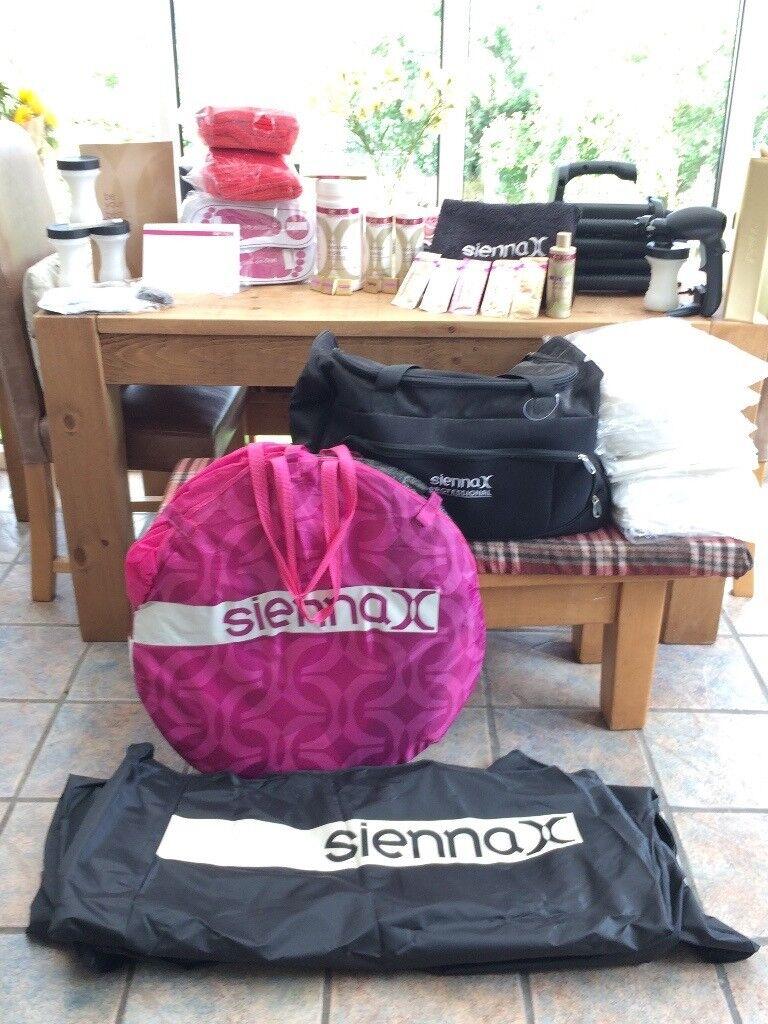 Sienna X full spray tan kit almost new pink tent gun bag to start business & Sienna X full spray tan kit almost new pink tent gun bag to start ...