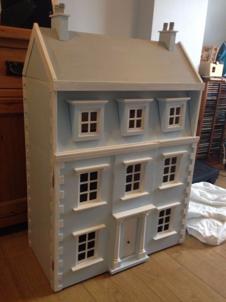 Early Learning Centre Wooden Dolls House With Furniture And Dolls, Looks  Brand New