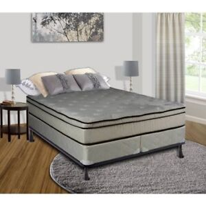 real queen size pillow top mattress with free split box spring