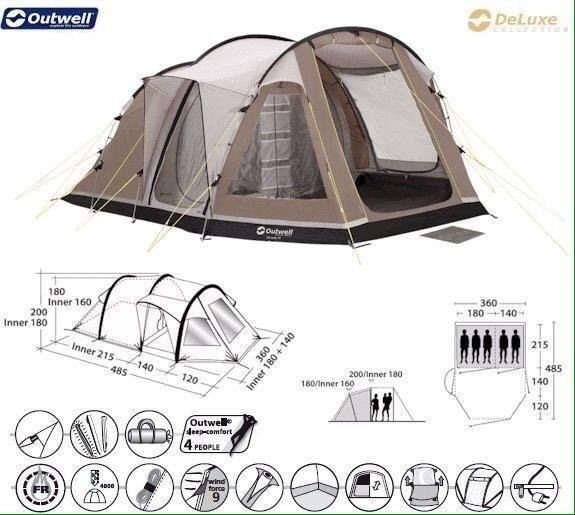Outwell Nevada M 5 Berth Tent u0026 Other C&ing Things  sc 1 st  Gumtree & Outwell Nevada M 5 Berth Tent u0026 Other Camping Things   in Tamworth ...