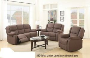 Captivating LIQUIDATION SALE 3 PCS BROWN MICROFIBRE SOFA,LOVESEAT AND CHAIR