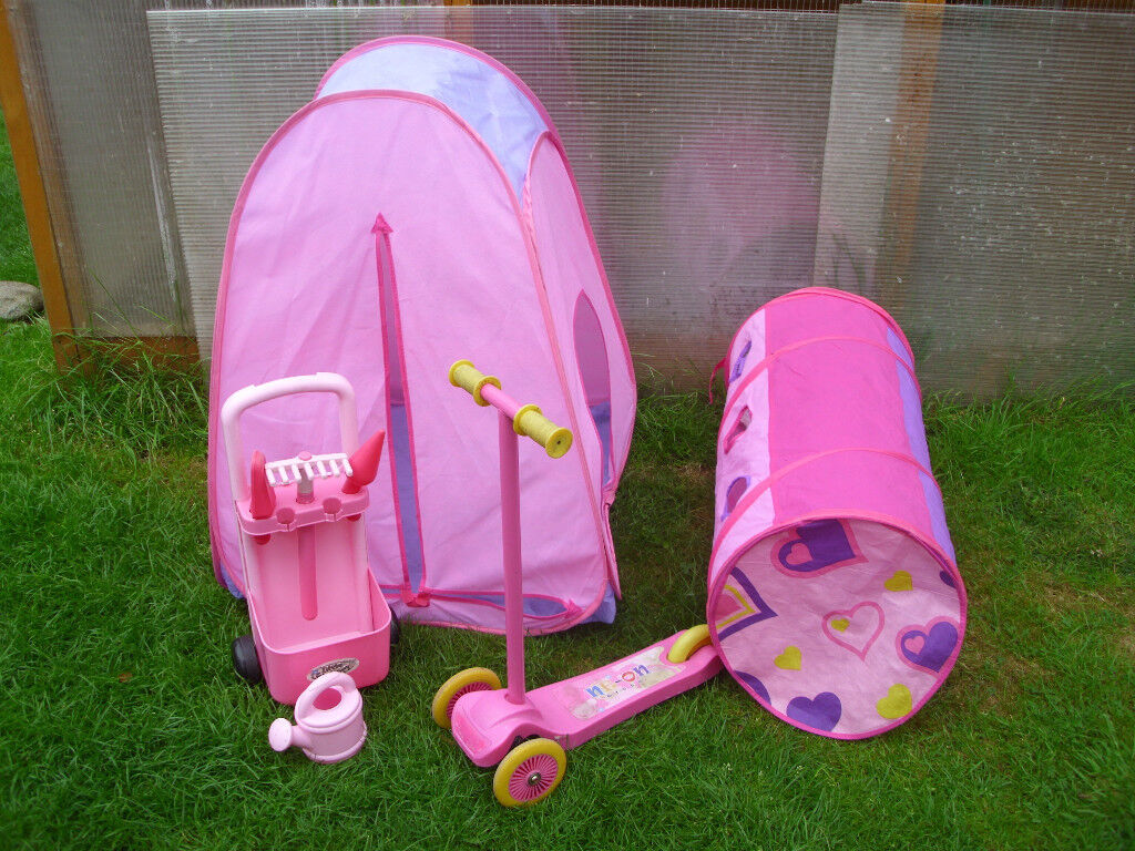 CHAD VALLEY POP UP TENT u0026 TUNNEL TWIST AND TURN SCOOTER GARDEN TROLLEY + & CHAD VALLEY POP UP TENT u0026 TUNNEL TWIST AND TURN SCOOTER GARDEN ...