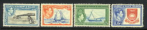 Gilbert-Ellice-Islands-SC-48-51-MNH-4-High-Value-stamps-issued-1939