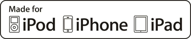 Apple MFI Certification Logo for iPod/iPhone/iPad