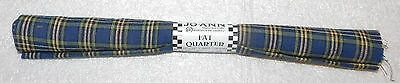 Jo Ann Fabric Crafts 18X 22 100  Cotton Fat Quarter Blue Plaid Striped Sewing