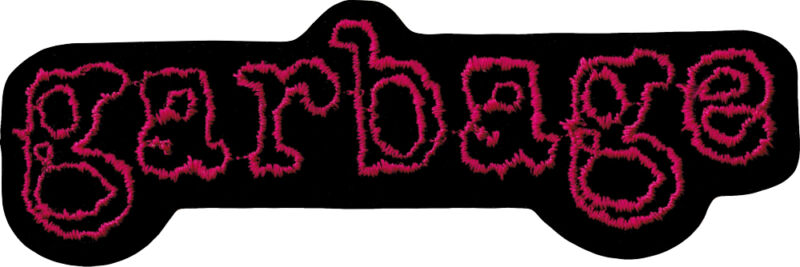 Patch - Garbage Pink Black Logo Shirley Manson Alternative Iron On Patch #9467
