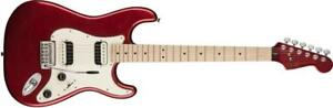 Contemporary Stratocaster HH Maple Neck Dark Metallic Red SQUIER